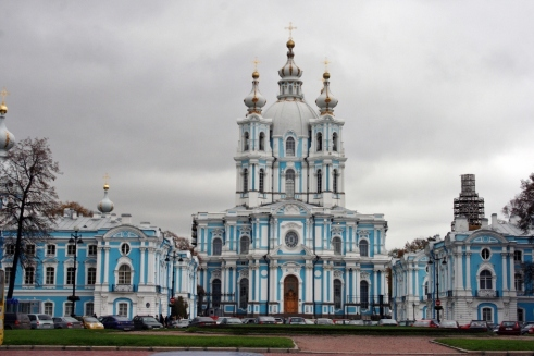 Smolny Cathedral St. Petersburg Russia