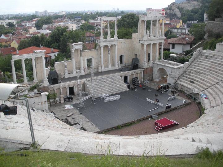 Roman amphitheatre Plovdiv Bulgaria