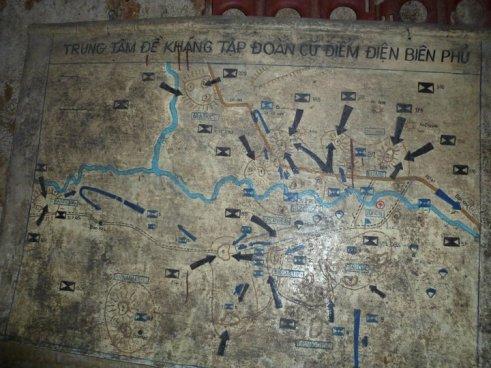 Battle Plan Dien Bien Phu de Castries bunker Vietnam