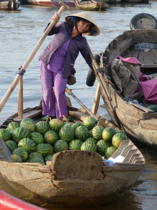 Cai Rang Floating Market Mekong Delta Vietnam