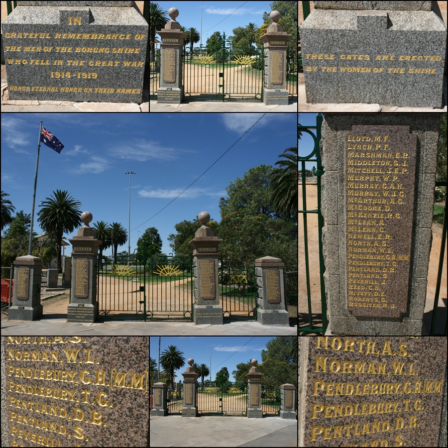 ANZAC Gates Warracknabeal VIC Mar 2016