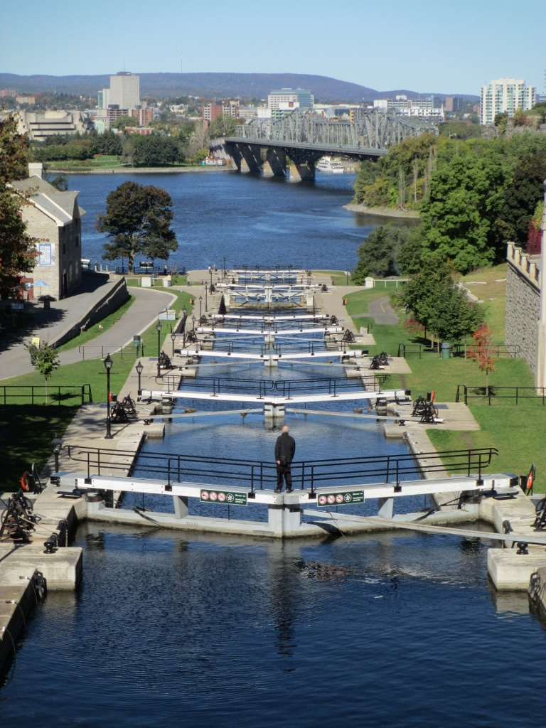 Water locks in Ottawa in Ontario, Canada