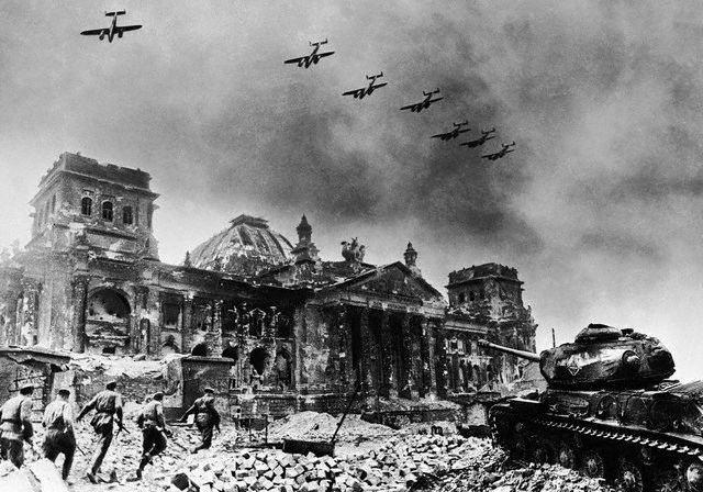 The Reichstag (German Parliament) falls to the Soviets Berlin 1945