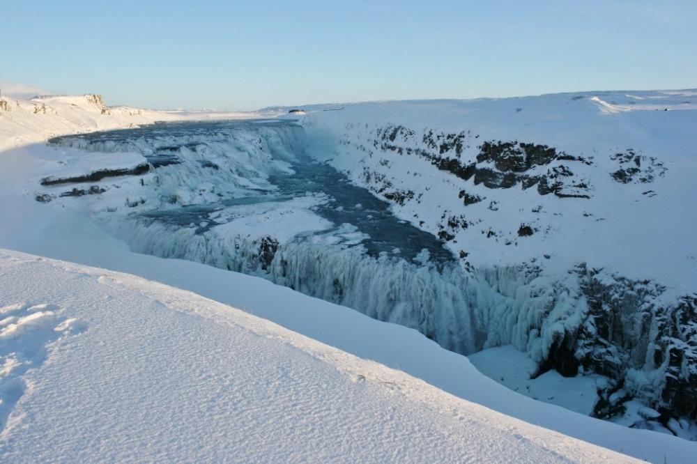 Gullfoss lower falls Iceland Golden Circle