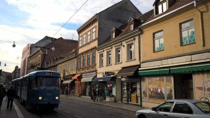 A typical Zagreb city street