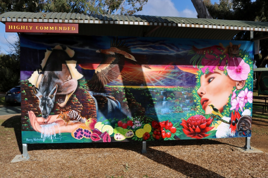 Rochester Mural Festival 2018 No. 5: Made In Australia by Kerry Nicholson (July 2018)