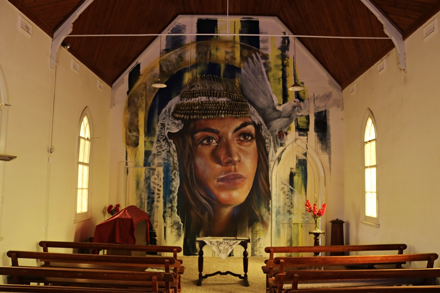 Goorambat Uniting Church Mural By Adnate